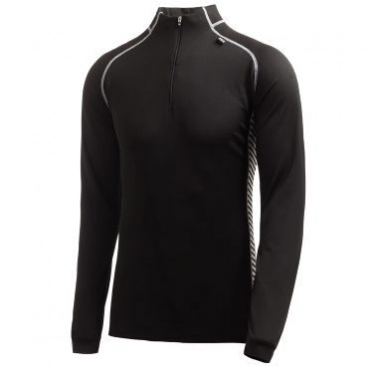 Shirt L.mouw met rits  M